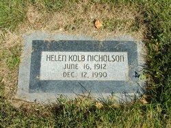 Helen <I>Kolb</I> Nicholson