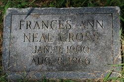 Frances Ann <I>Neal</I> Gross