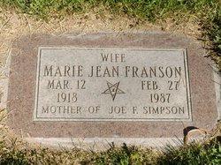 Marie Jean Franson