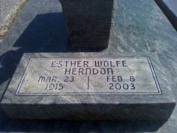 Esther <I>Wolfe</I> Herndon