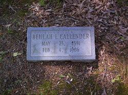 Beulah Lillian Callender
