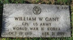William W Gant