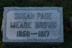 Susan Page <I>Meade</I> Brown