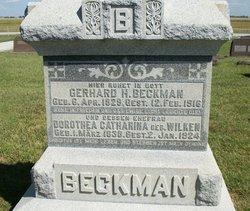 Dorothea Catharina <I>Wilken</I> Beckman