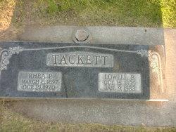 Rhea Packard Tackett