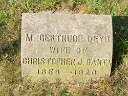 Mary Gertrude <I>Deyo</I> Banta