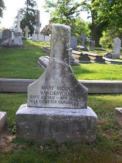 Mary <I>Biddle</I> Vandervoort