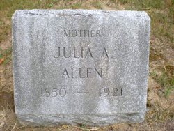 Julia A. <I>Nelson</I> Allen