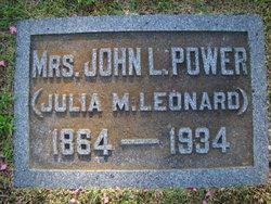 Julia M <I>Leonard</I> Power