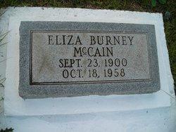 Eliza <I>Burney</I> McCain