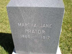Martha Jane <I>Bruce</I> Prator