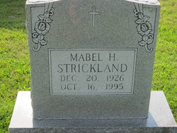 Mabel <I>Harris</I> Strickland