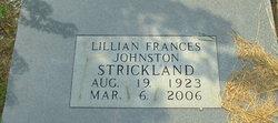 Lillian Frances <I>Johnston</I> Strickland