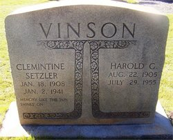 Annie Clementine <I>Setzler</I> Vinson