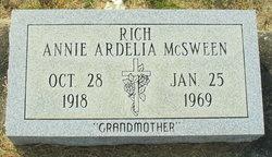Annie Ardelia <I>McSween</I> Rich