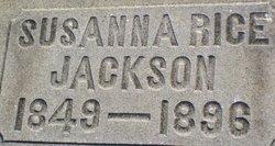 Susanna <I>Rice</I> Jackson