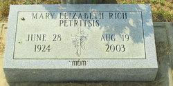 Mary Elizabeth <I>Rich</I> Petritsis