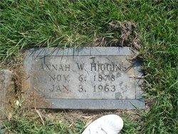 Annah Winifred <I>Pittman</I> Higgins