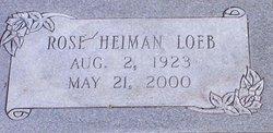 Rose <I>Heiman</I> Loeb