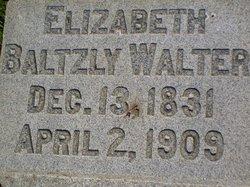 Elizabeth <I>Baltzly</I> Walter