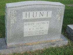 Maude <I>Hedrick</I> Hunt