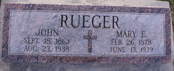 Mary E <I>Willer</I> Rueger
