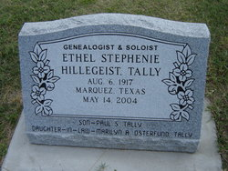 Ethel Stephenie <I>Hillegeist</I> Tally