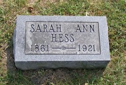 Sarah Ann <I>Rensberger</I> Hess