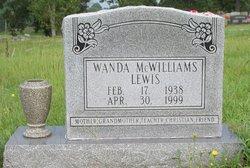 Wanda <I>McWilliams</I> Lewis