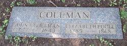 Elizabeth <I>Poole</I> Coleman