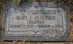 Mary June <I>Heaston</I> Anderson