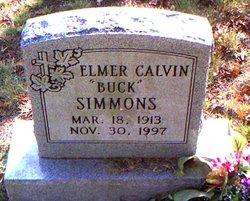 """Elmer Calvin """"Buck"""" Simmons"""