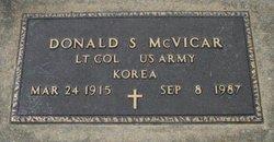 Dr Donald S. McVicar