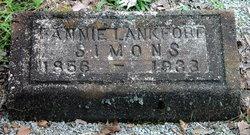 "Susan Frances ""Fannie"" <I>Langford</I> Simons"