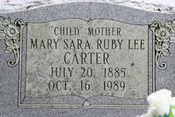 Mary Sara  Ruby Lee Carter