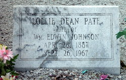 Lollie Dean <I>Pate</I> Johnson