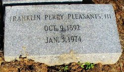 Franklin Perry Pleasants, III