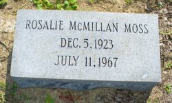Rosalie McMillan Moss