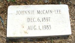 Johnnie McCain Lee