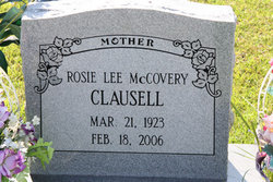 Rosie Lee <I>McCovery</I> Clausell