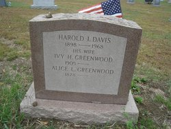 Ivy H <I>Greenwood</I> Davis