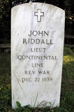 Lieut John Riddall