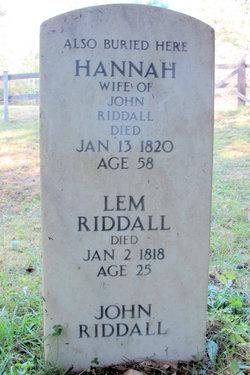 Hannah Riddall