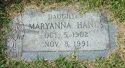 """Maryanna """"Mamie"""" <I>Chesniak</I> Hanes"""