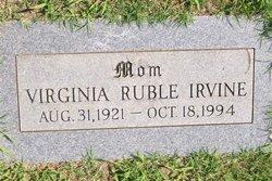 Virginia <I>Ruble</I> Irvine
