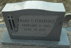 Mary E Etheridge