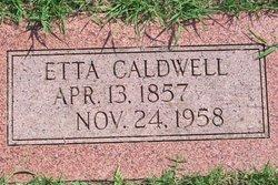 Mary Etta <I>Wells</I> Caldwell