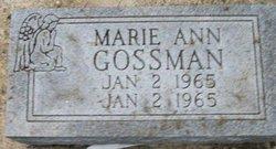 Marie Ann Gossman