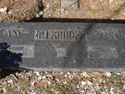Frank E Alexander