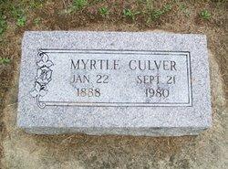 Myrtle <I>Bagwell</I> Culver